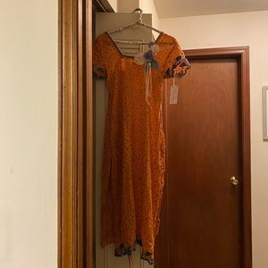 Vintage Sweet Clementine Dress (S/M)